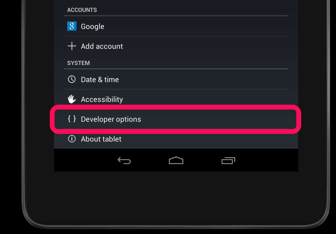 android 4.2 hot to remove developer_options