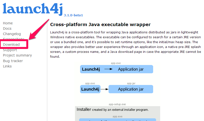 how to create exe with launch4j